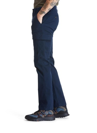 Timberland  Core Twill Cargo Erkek Pantolon Mavi Renkli